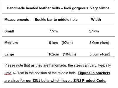 Belts sizing guide